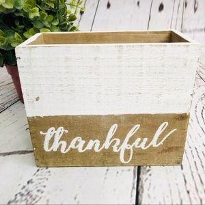 🍁Farmhouse Wood Whitewashed Box Planter Decor
